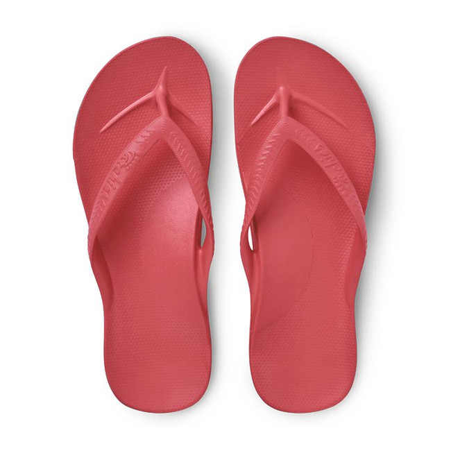 Coral Red Orthotic Flip Flops