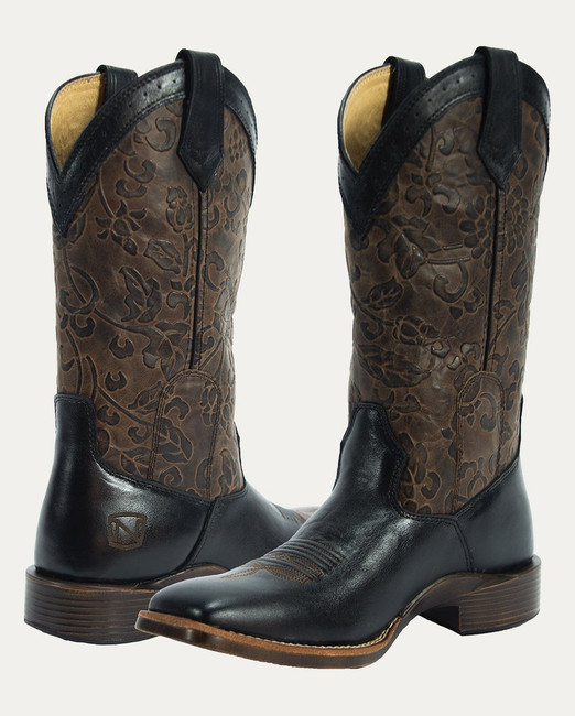 Black Square Toe Cowgirl Boot by Noble Outfitters
