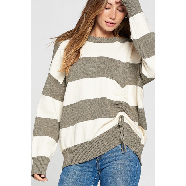 Ruched Sweater Sage