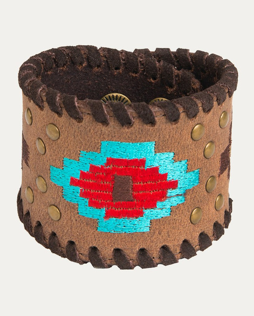 Rustic Brown Aztec Bracelet by Noble Outfitters