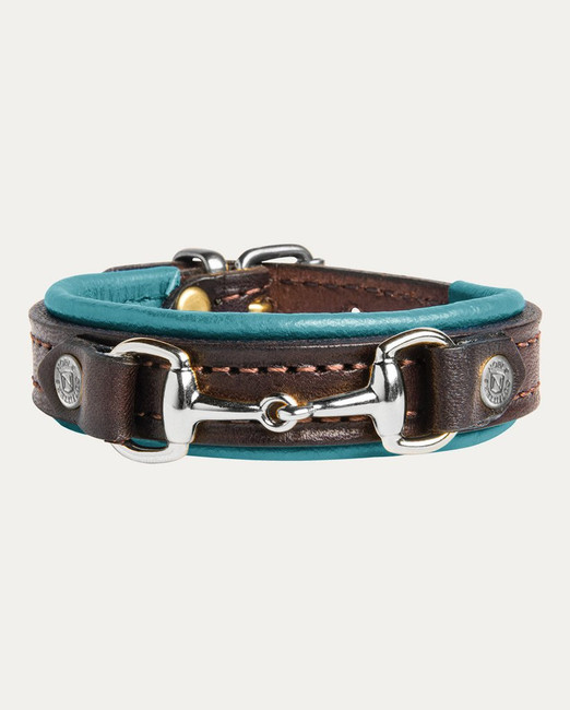Deep Turquoise Mid Brown On the Bit Bracelet by Noble Outfitters