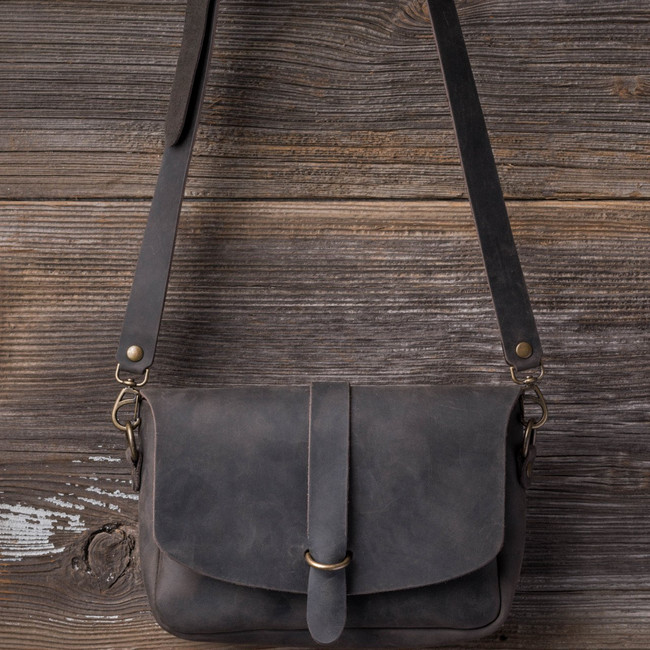 Distressed Black Crossbody Koroha Purse by Love41