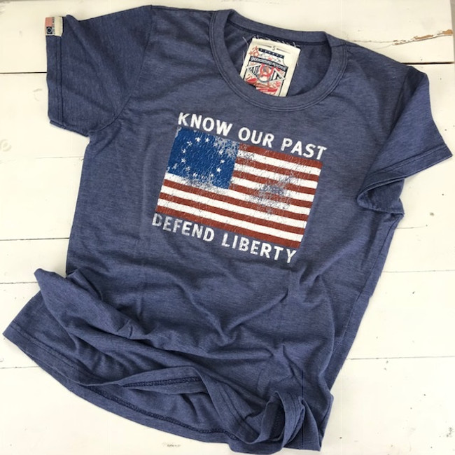 ladies fit flag t shirt