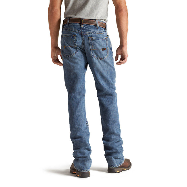Flint FR M4 Relaxed Fit Low Rise Boot Cut Jeans by Ariat
