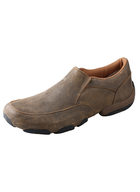 Men's Slip On Bomber Brown Driving Moc by Twisted X