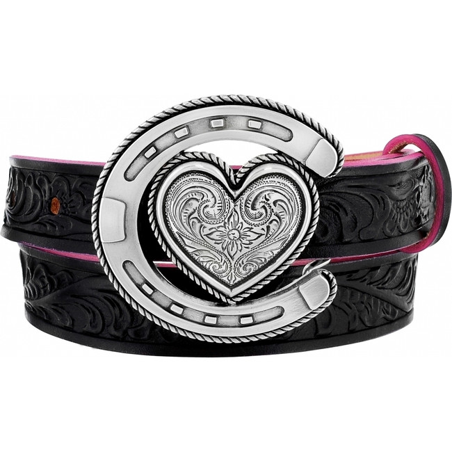 Black Houston Heart Belt by Justin