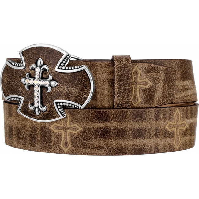 Brown Gato Cross Belt by Justin