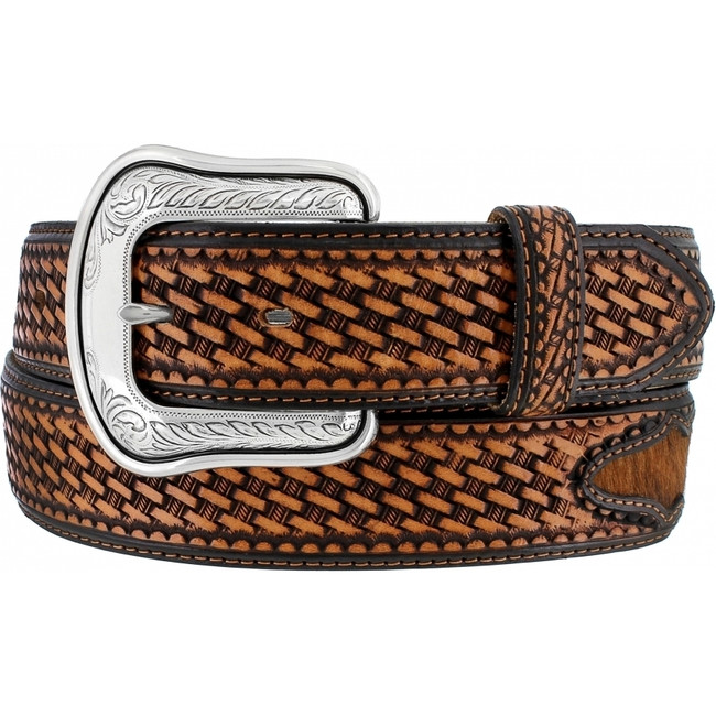 Tan Cattleman Classic Belt by Justin