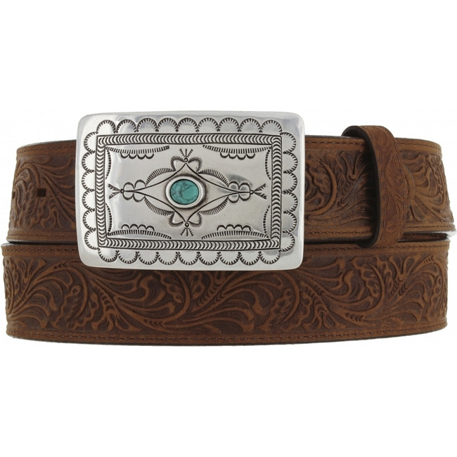 Aged Bark Navajo Spirit Belt by Tony Lama