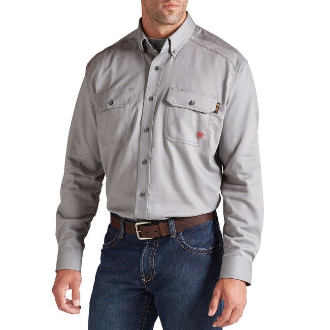 Gray FR Button Down Shirt by Ariat