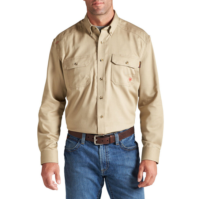 Tan FR Solid Work Shirt by Ariat