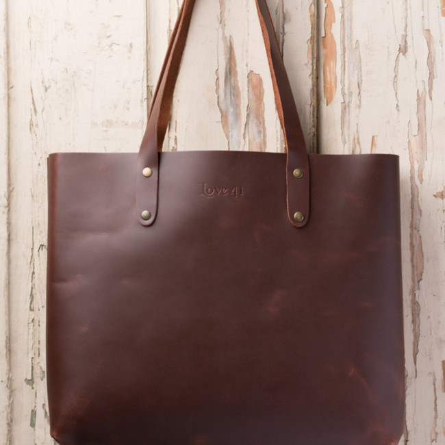 Chestnut Tote by Love 41