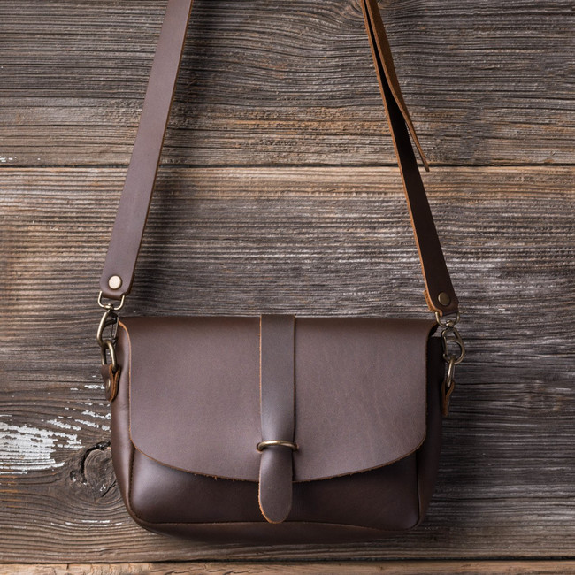 Dark Coffee Crossbody Purse by Love 41