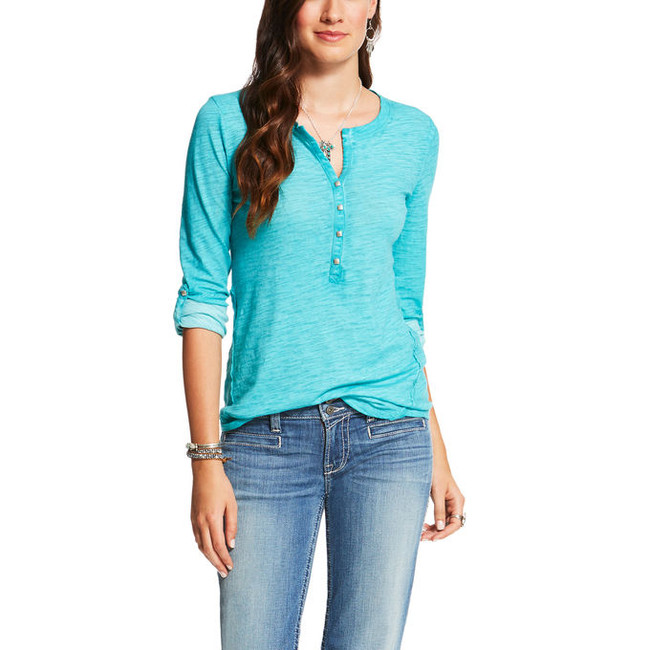 Ladies' Turquoise Henley by Ariat