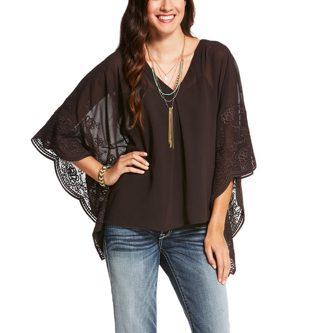 Brown Flowy Top by Ariat