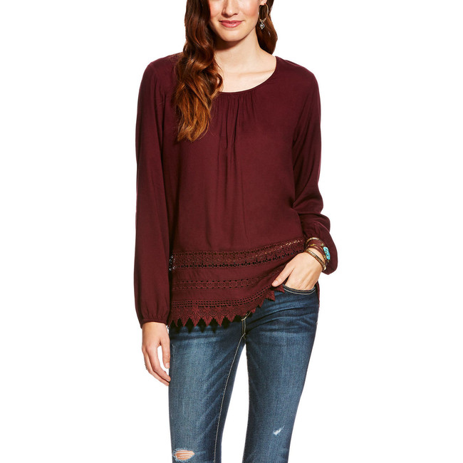 Wine Colored Top by Ariat