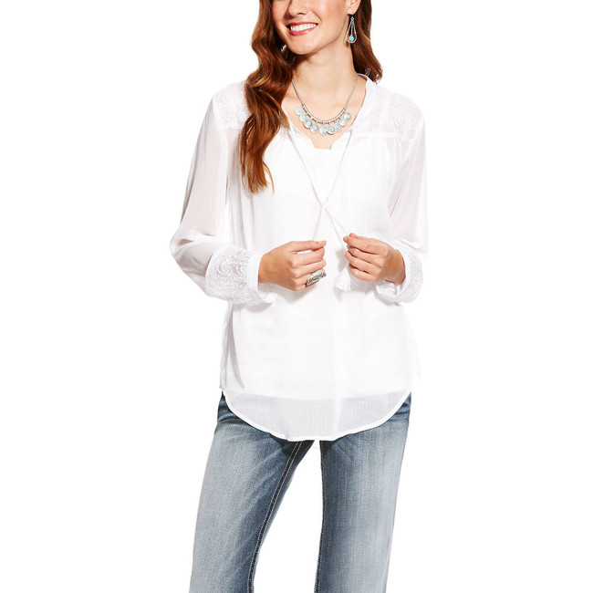 Ariat white top