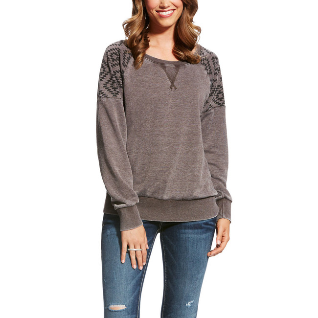 Burnout grey sweatshirt
