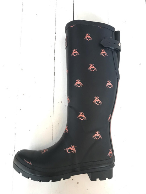 Joules love bees wellies