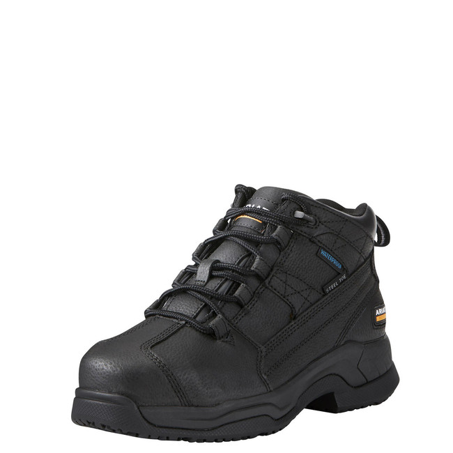 mens black leather work shoes