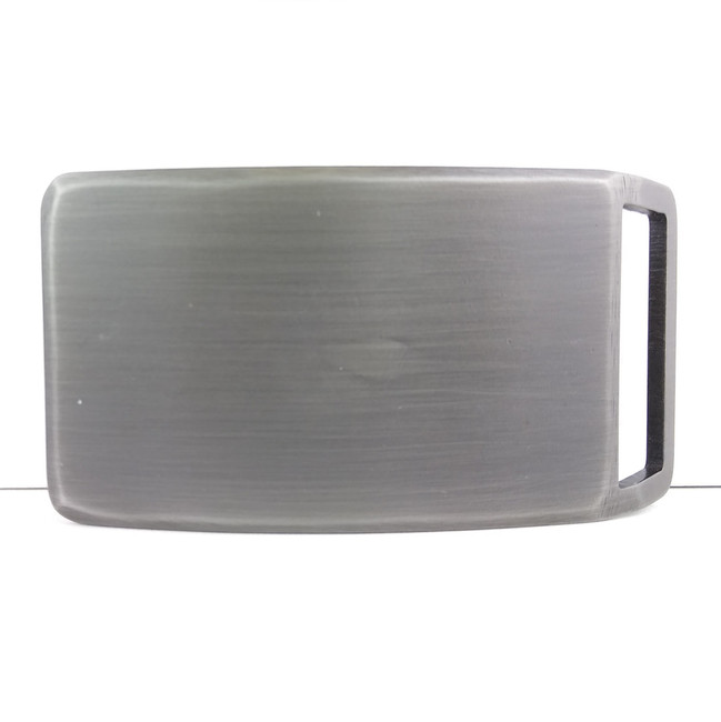 brushed steel buckle