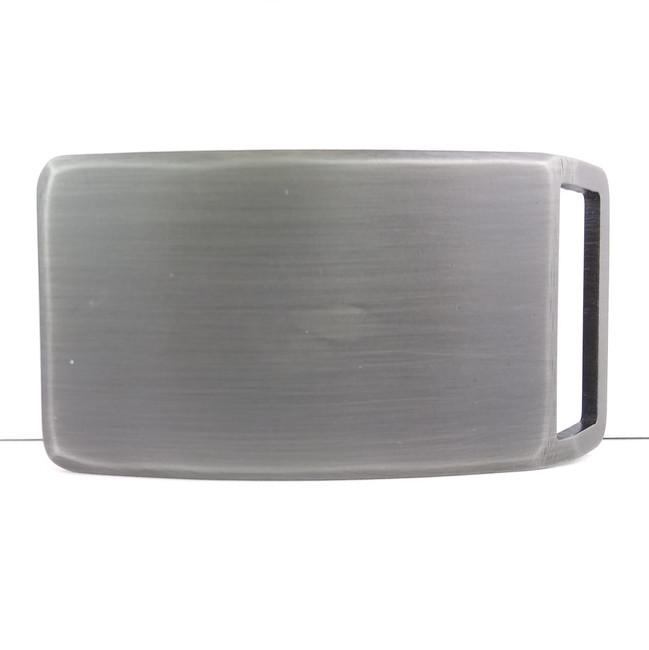 brushed steel buckle