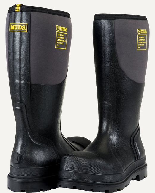 steel toe mud boots