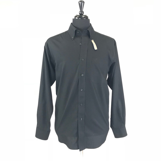 mens black button up shirt