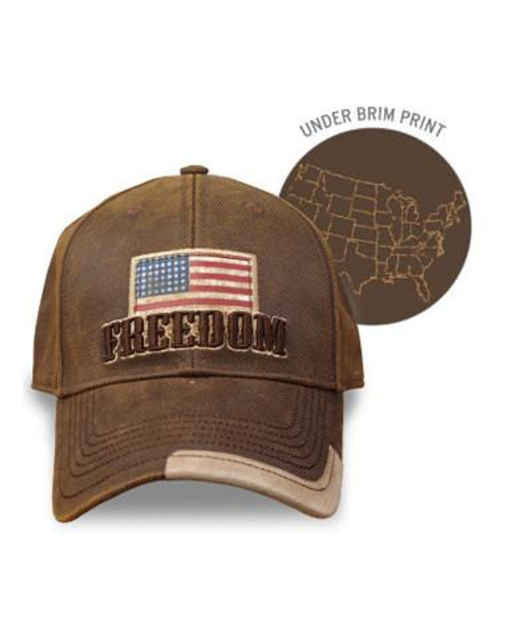 Youth  Freedom Cap Brown