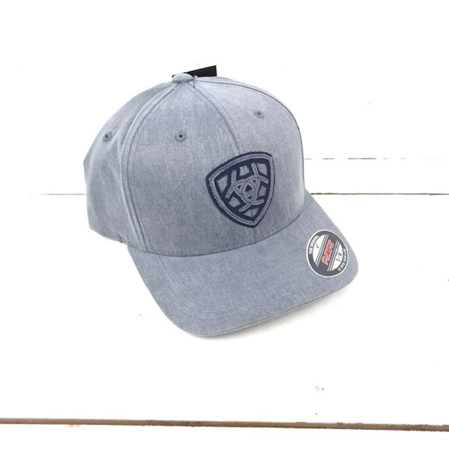 4e917a87ec4c8 Ariat Flexfit Hat Grey Logo S M - The Boot Life