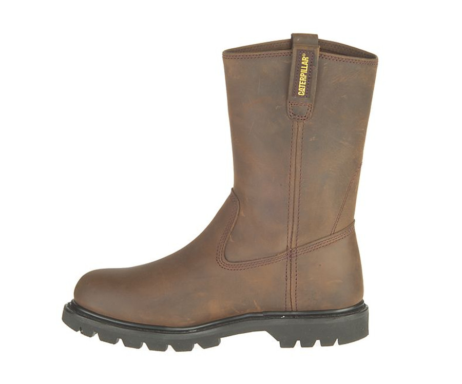 Pull On Round Toe Work Boot by CAT