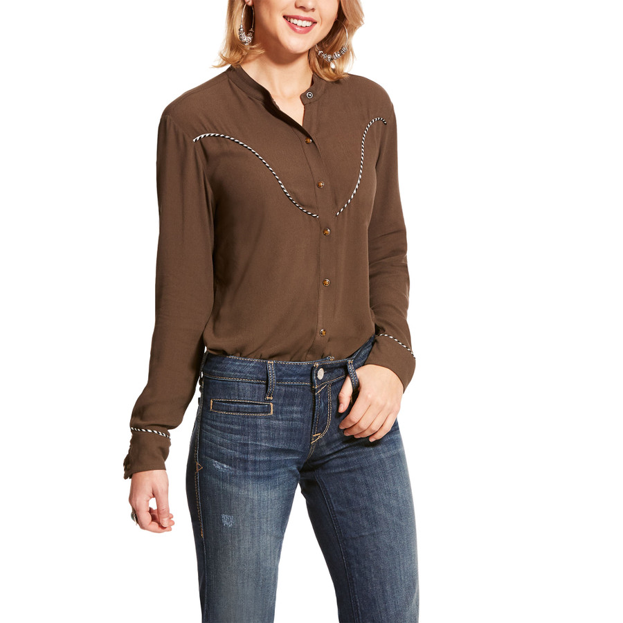 womens western snap shirt
