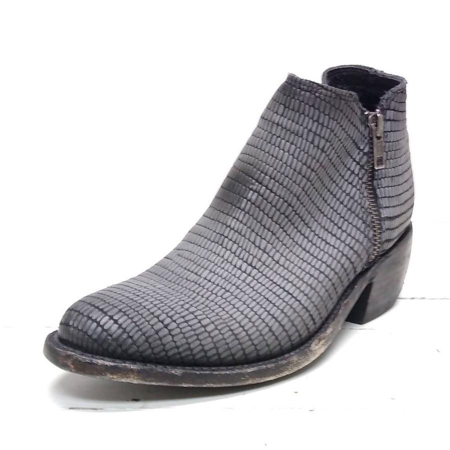 lizard print booties