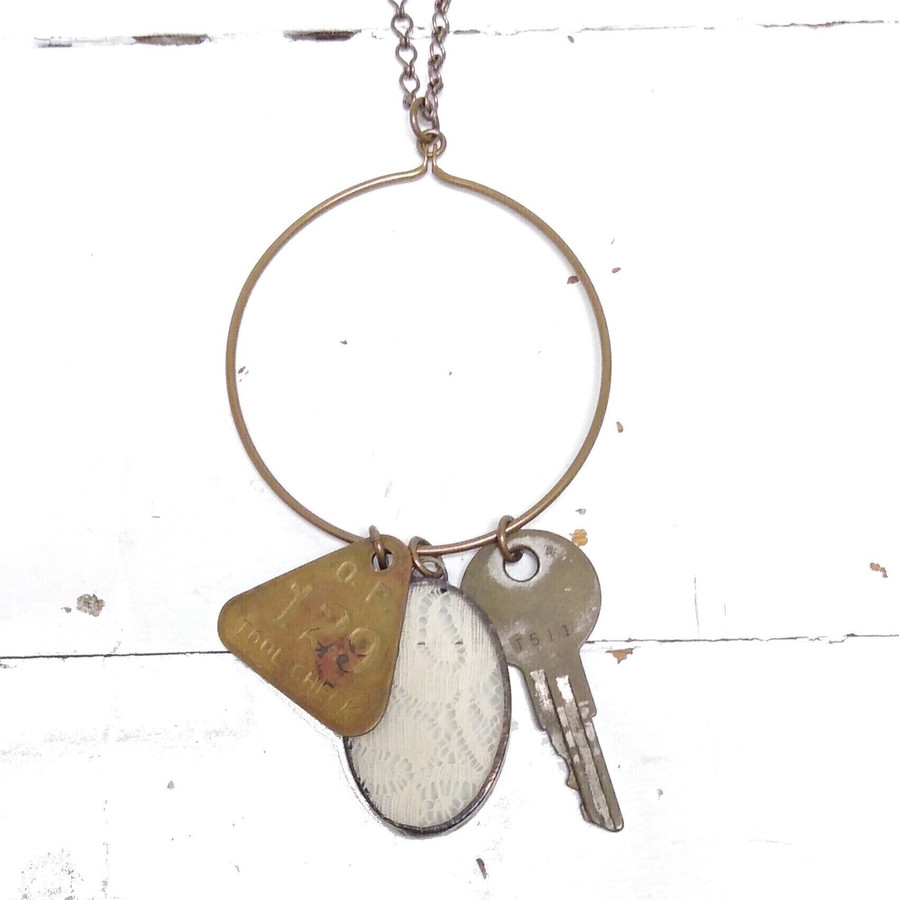 upcycled salvaged jewelry