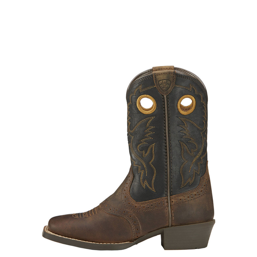 Kid's Black & Brown Cowboy Boot by Ariat