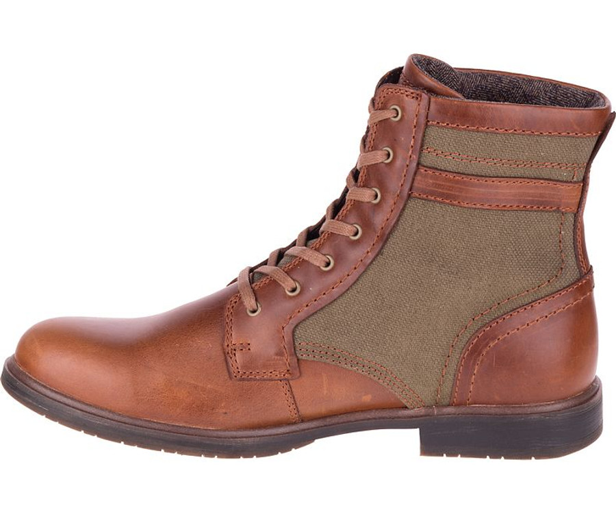 Leather Canvas Boot by CAT