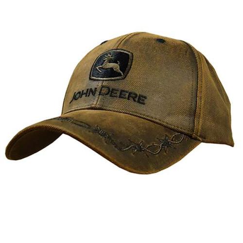 81b592cb5aa95 Oilskin Look w  Emb Logo Cap Brown - The Boot Life