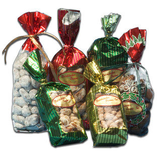 Pecan Candy: Our Happy Holidays Pecan Foil Gift Bags