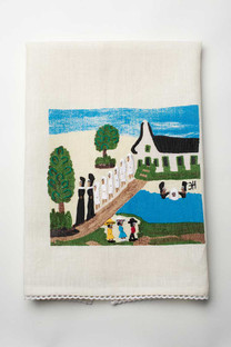 Baptism on Cane River Linen Hand Towel.
