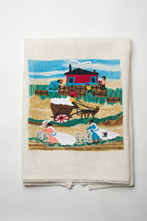 Cotton Mural Linen Tea Towel.