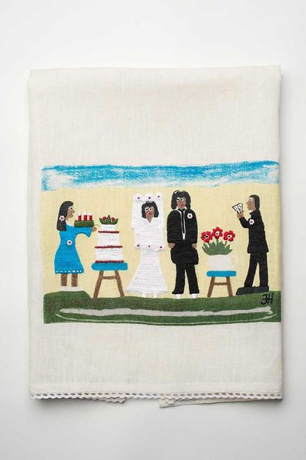 The Wedding Linen Tea Towel.