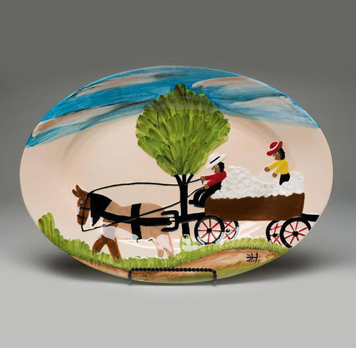 Cotton Wagon Serving Piece.