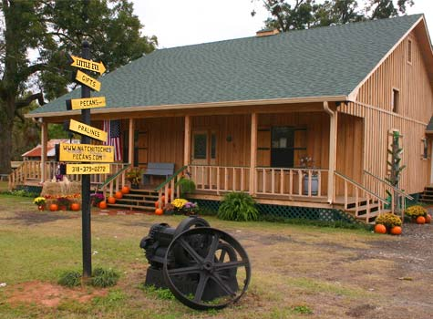 Retail Store at Natchitoches Pecans in Cloutierville, Louisiana