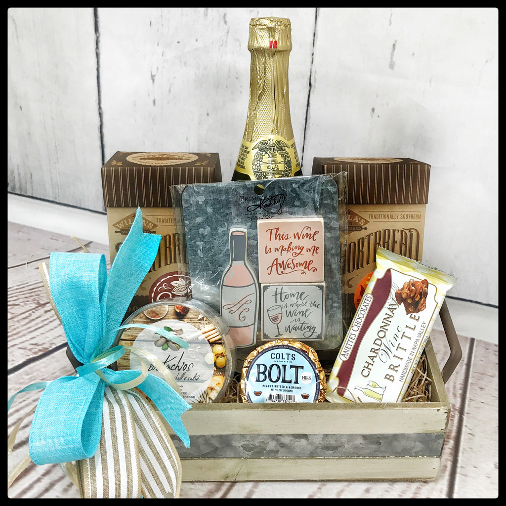 """Go Ahead and """"Wine"""" Gift Tray"""