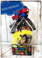 College Survival Kit Gift BasketExam Survival