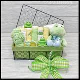 Ribbit Ribbit Little One Baby Gift Basket