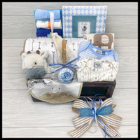 Blue is for Boys Baby Gift Basket