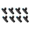ID1050-XDS, 1050.48.14.14B.8 Fuel Injectors, 14mm (black) bottom adaptor, set of 8