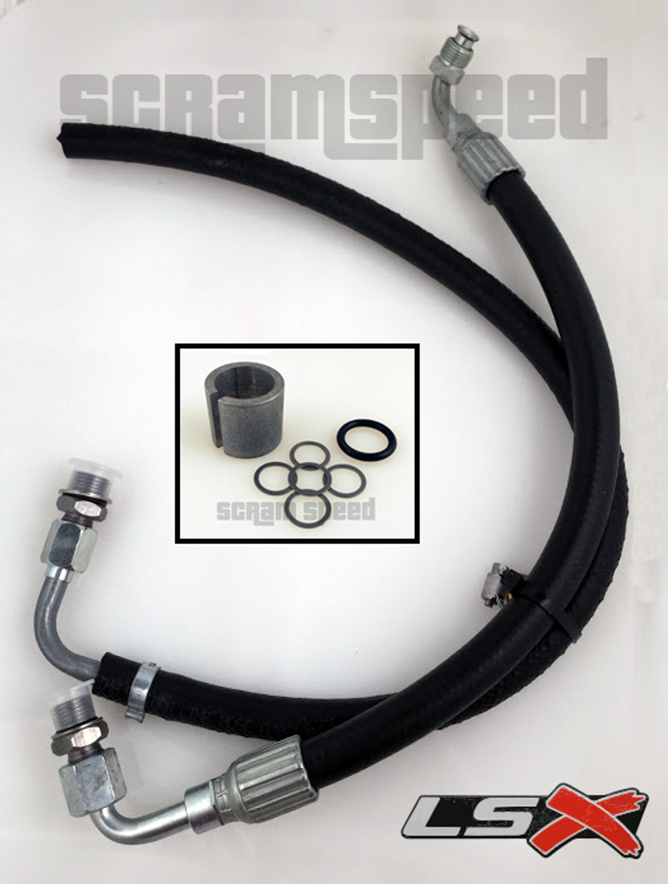 79-97 Mustang LS Swap Power Steering hose and pressure reduction kit LSX  LS1 LS6