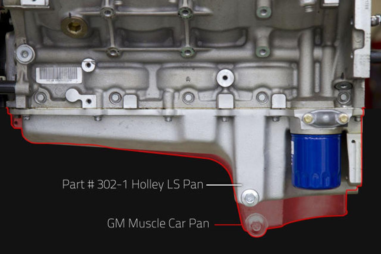 GM LS RETRO-FIT OIL PAN - CARBON BLACK CERAMIC - 1955-87 GM/MUSCLE CAR/CLASSIC CAR/TRUCKS